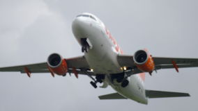 EasyJet Airbus 319 take-off stock video footage