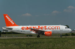 EasyJet Airbus A319. Taking off at Prague airport Stock Photography