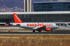 Easyjet Airbus taxiing Royalty Free Stock Photos