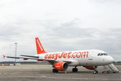 Easyjet aircraft at Lyon airport Royalty Free Stock Photo