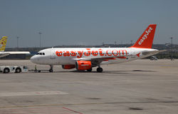 EasyJet airplane Royalty Free Stock Photography