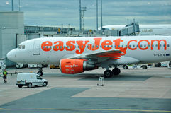 EasyJet A-319 airplane Royalty Free Stock Photography