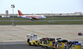 EasyJet airplane ready for take off Stock Photography