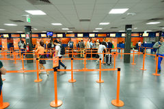 EasyJet check-in area Royalty Free Stock Photography