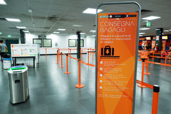 EasyJet check-in area Royalty Free Stock Image