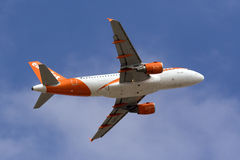 Easyjet A319 climbing after take off Royalty Free Stock Photos