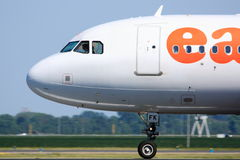 Easyjet cockpit side view Royalty Free Stock Photo