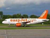 easyJet d'Airbus A319 Images libres de droits