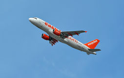 Easyjet easy jet aircraft Royalty Free Stock Photos