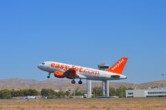 EasyJet taking Off From Alicante Airport - Boeing A320 Airbus Stock Image