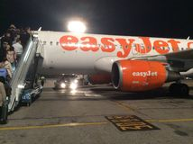 easyJet Linia lotnicza obraz stock