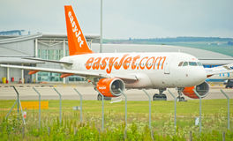 Easyjet plane at Inverness Airport. Stock Images