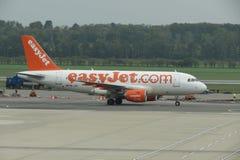 Easyjet samolot Zdjęcie Royalty Free