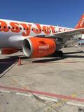 EasyJet a319 samolotu pasażerskiego zakończenie up zdjęcia royalty free