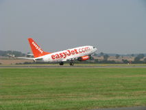 Easyjet takes off. Boeing 737 cheap airlines Easyjet taking-off from London-Luton Airport stock photos
