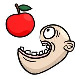 Eat apple Stock Images