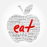 EAT apple word cloud collage Stock Photo