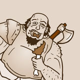 Eat barbarian. Creative design of eat barbarian Royalty Free Stock Photo