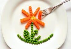 Eat, Carrots, Peas, Healthy Stock Photos