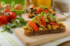 Free Eat Clean - Vegetarian Toast With Vegetable Royalty Free Stock Image - 53770246