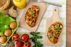 Free Eat Clean - Vegetarian Toast With Vegetable Royalty Free Stock Image - 53770476