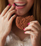 Eat cookies Royalty Free Stock Photo