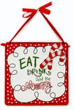 Eat Drink And Be Merry. Christmas Stock Photos