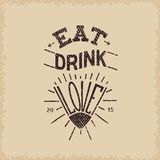 Eat, drink, love Royalty Free Stock Image