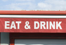 Eat & drink sign Royalty Free Stock Photo