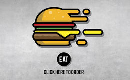 Eat Eating Ordering Food Concept. Eat Eating Ordering Food Take Out Royalty Free Stock Images