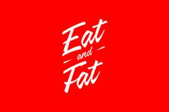 Eat and Fat Royalty Free Stock Photos