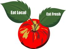 Eat Fresh and Eat Local products.... Stock Photos