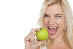 Eat fresh fruits, stay healthy Stock Image