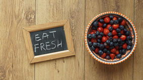 Eat fresh Royalty Free Stock Image