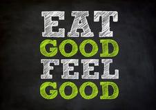 Eat good feel good. Chalkboard concept royalty free illustration