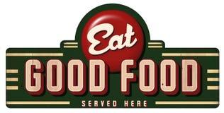 Free Eat Good Food Vintage Sign Metal Served Here Stock Photos - 131855503