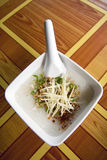 Eat gruel. Rice bowl fit for the morning Royalty Free Stock Image
