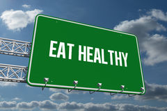 Eat healthy against sky and clouds Royalty Free Stock Photography