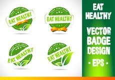 Eat healthy Badge Vector Stock Photo
