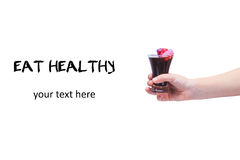 Eat healthy! Concept of healthy food. Concept of junk food. Chil Stock Photography