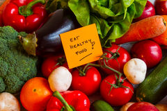 Eat healthy Food. Vegetables and fruits background stock images