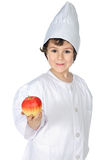 Eat healthy like this kid does Stock Images