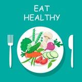 Eat healthy. Top view. Vector illustration vector illustration