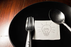 Eat idea for creat innovation. Stock Photography