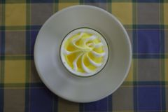 Eat lemon sorbet. Digestive food royalty free stock photography
