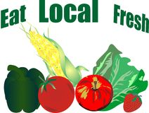 Free Eat Local And Fresh Veggie Products... Stock Photography - 10872572