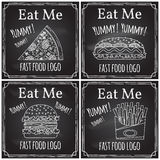 Eat me. Elements on the theme of the restaurant business.  Royalty Free Stock Photography