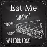 Eat me. Elements on the theme of the restaurant business.  Royalty Free Stock Image