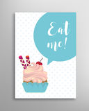 Eat me phrase. Vector lettering Royalty Free Stock Photos