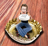 Eat me pill Royalty Free Stock Images